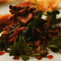 Tavada Ton Balığı ve Su Teresi Salatası